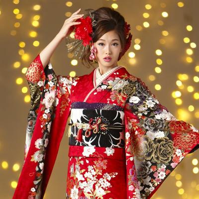 成人式はびわ(biwa)の最新振袖和スタイルでプリンセスになる?滋賀県の成人式はびわ桜の振袖で決まり。